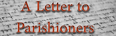 A letter to Parishioners - Covid 19 update